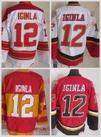 Wholesale jarome iginla jersey - Calgary #12 jarome iginla Cheap Hockey Jerseys ICE Winter mens women kids Stitched Jersey Free shipping