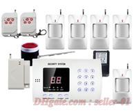ingrosso allarmi antifurto-Wireless Home office PIR Motion Rilevazione a infrarossi Finestra / porta Antifurto di sicurezza Sistema di composizione automatica Facile DIY Spedizione gratuita