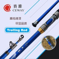 Wholesale Pole Fishing Equipment - Carbon Boat Fishing Rod Telescopic Trolling Rods Ultra Hard Troll Jigging Pole Tough Fish Tackle Poles Equipment 2.7m DISCOUNT FREE SHIPPING