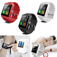 Wholesale Smartphone S5 - Bluetooth Smartwatch U8 U Watch Smart Watch Wrist Watches Samsung S4 S5 Note 2 Note 3 HTC Android Phone Smartphone