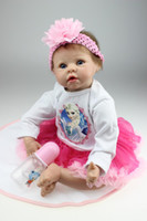 Wholesale Live Doll Silicone - Top Popular 55CM 22inches Sleep With Baby Doll Simulation Reborn Living Doll Soft Gentle Touch Silicone Toy Girls Birthday Gift