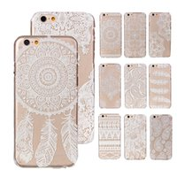 Wholesale Iphone5c Hard - For iPhone 6 5 5S 5C i5 i6 Plus Floral Paisley Flower Transparent Clear Hard Phone Case Cover for iPhone6 iPhone5 iPhone5C