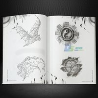 Wholesale Tattoo Flash Sketches - Wholesale-Tattoo 152 Page Art Wolf Animal Skull Design Reference Book Flash Sketch Outline