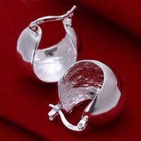 Wholesale Sterling Silver Belly - Brand new sterling silver Light belly earrings DFMSE052,women's 925 silver Dangle Chandelier earrings 10 pairs a lot