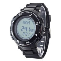Wholesale Digital Stopwatch Compass - New 831 Digital Time Zone Display Compass Two Alarms Stopwatch Electronic Sport Watch Unisex Wristwatch