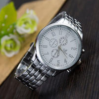 Wholesale Orlando Wristwatch - Fashion Simple Style Top Luxury Brand ORLANDO Watches Men Stainless Steel Wristwatches Quartz watch Big Silver Dial Clock Man Watch