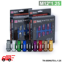 Wholesale D1 Spec Lug Nuts - D1-SPEC LIGHT WEIGHT WHEEL RACING LUG NUTS 20PCS P:1.25 52mm M12*1.25 TK-650NUTS-L-1.25-FS