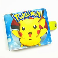Al por mayor-Free Shipping Game Poke Go / One Piece / Attack en Titan / Osomatsu-sa Hasp Wallet para el adolescente Boy Girls Anime Cartoon Wallet
