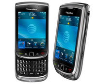 kamera-handy freischaltete gps großhandel-Original BlackBerry Torch 9800 entsperrt 3G Netzwerk QWERTY Smartphone 3,2