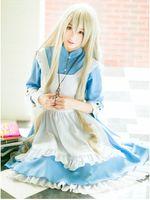 Wholesale Cute French Maid Costume - Anime Kagerou Project Cosplay Clothes Kozakura Mari Cosplay Cute Lolita Costume pinafore + dress meidofuku French maid cosplay