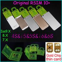 Wholesale T Mobile Iphone 5s Wholesale - Original RSIM 10+ rsim 10 + R-sim 10+ thin card unlock card for iphone 6s plus 6 5s 5 4s IOS7.X ios9.X WCDMA GSM CDMA AT&T T-mobile Sprint
