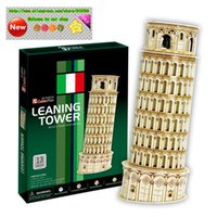 Wholesale Italian pizza Leaning Tower D paper model building model D puzzles toys