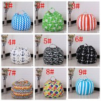 Wholesale modern bean bag chairs for sale - Group buy Creative Modern Storage Stuffed Animal Storage Bean Bag Chair Portable Kids Toy Storage Bag Clothes Organizer Tool color inch KKA3330