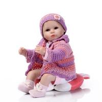 ingrosso bambole da collezione di vinile 18 pollici-42CM silicone bambini Reborn bambole per le ragazze Giocattoli realistici appena nato Bebé Bonecas con Rosa Abbigliamento Accessori Cuscino