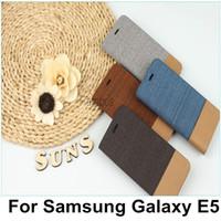 samsung galaxy e7 ledertasche großhandel-Floral Flip Leder Geldbörse Handyhülle mit Magnetverschluss Ständer für Samsung Galaxy E5 E500 für Samsung Galaxy E7 E7009
