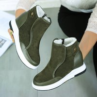 Wholesale Winter Hidden Wedges Shoes - 2017 New Hidden Wedge Heels Promotion Womens Snow Boots Australia JOJOAGG Leather Boots Dichotomanthes Non Slip Bottom Shoes