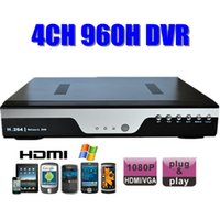 Wholesale D1 Mobile Dvr - Standalone 4ch DVR recorder 4 channel hd 960H D1 1080P HDMI VGA H.264 Network CCTV system Mobile Phone Remote