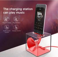 iphone için dock istasyonu hoparlörleri toptan satış-Dock İstasyonu Şarj iphone 7 6 6 s Artı se 5 5 s Hoparlör Masaüstü iPhone Için Şarj İstasyonu Yerleştirme Tutucu Standı