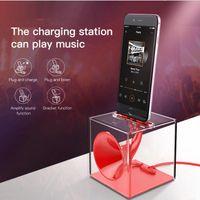 Wholesale Iphone 5s Speaker Dock - Dock Station Charger For iPhone 7 6 6s Plus se 5 5s Speaker Desktop Charging Station Docking Holder Stand For iPhone