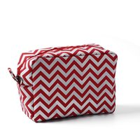 Wholesale Chevron Gift Bags - ROYALBLANKS 11 Colors Personalized Chevron Cosmetic Bags & Cases Zipper Closure Bridesmaid And Graduation Great Gifts(FedEx Free Shipping)