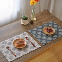 Wholesale Side Table Cover - Classical table napkin Cotton linen napkin tea towels covered cloth double layer Double-sided tree print table napkins 40*30cm