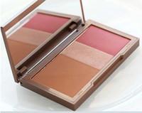 Wholesale red highlighter resale online - 2015 New Arrival Blush Palette Colors Makeup Blush Bronzer Highlighter Blush in Make up Pallete