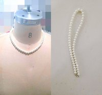 Wholesale Cheap Halloween Bride - Classic In Stock Cheap Bridal Jewelry Pearls Wedding statement necklaces Accessory Necklace Evening Jewelry Bride Pearls Necklace Fashion