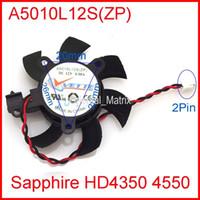 ventilador de 12 v 2 hilos al por mayor-Al por mayor-VETTE A5010L12S (ZP) 45mm 12V 0.08A 2Wire para Sapphire HD4350 HD4550 ventilador de la tarjeta gráfica