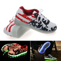 online shopping Usb Light Shoes - 2015 Newest fashion led shoes women eight light colors Unisex lovers' flashing led shoes usb with stars for party