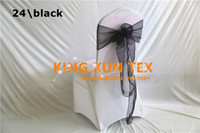 Wholesale Chair Ties For Sale - Hot Sale Cheap Price Organza Chair Sash Tie Bow Fit For Wedding Spandex Chair Cover Free Shipping