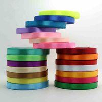 Wholesale Ruban Satin - Discount single face polyester Ruban satin ribbon 20mm Next cloth tape ribbons party decoration sewing supplies 250yard  lot order<$15 no tr