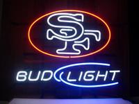 ingrosso neon luminoso di bud-Nuovo BUD LIGHT SF Neon Sign Beer Bar Iscriviti Pub Store KTV Disco Display Display Logo Sign 17