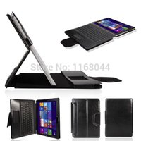 "Wholesale Keyboard Microsoft - Wholesale-Bluetooth Touch pad Keyboard Portfolio Case Cover Stand for Microsoft Surface Pro 3 12"" Win8 Tablet Black"