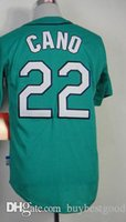 Robinson Cano Grün Jersey Seattle Trikots # 22 Großhandel Billig Baseball Trikots Authentic Genäht Cool Base Jersey