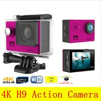 Orginal Eken Action Camera 4k Go Pro H9 Camera Wifi Водонепроницаемый спортивный 12MP 170 градусов широкоугольный автомобиль Drone Shockproof Bycycling Recorder