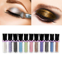 Wholesale Green Glitter Loose - Hot Single Roller Color Eyeshadow Glitter Pigment Loose Powder Eye Shadow Makeup M01535