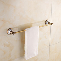 Wholesale Towel Bathroom Hooks Antique - 2015 Real New with Hook antique brass Single Bars Towel Hanger Toalleros Square Towel Bar Bathroom Holder Accessories A-FN857