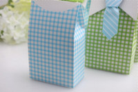 Wholesale Square Cupcake Boxes - wedding favor candy box--Cute Boy Favor Box baby shower party candy sweet box cupcake cake box 100pcs lot