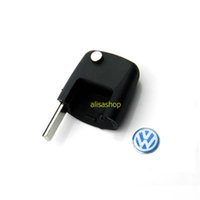 Wholesale Skoda Remote - New Flip Remote Key Case Shell for Volkswagen Seat Passat Polo Skoda Octavia car key shell for VW