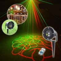 Vente en gros- lumières de noël en plein air Laser Spotlight imperméable à l'eau en plein air Laser Projector Light décorations de noël pour la maison Club