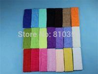 Wholesale Terry Cloth Sports Headbands - Wholesale-10PCS Cotton Terry Cloth Sweatband Flexible Headband Head Hair Sports Yoga Hot Sale