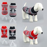 Wholesale Red Dog Sweater Small - New Cute Pet Product Warm Knitwear Sweater Jumper Coat For Small Puppy Dogs Cat Christmas Xmas Dog Clothes