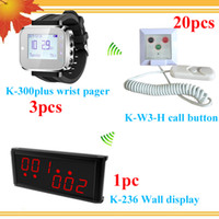 Wholesale Buzzer Call System - Long range nurse call system for clinic;hospital With Center Display 3 wrist watches for 3 nurse 20 nurse call buzzers