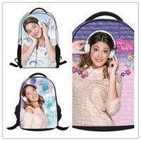 Wholesale 3d Bags For Sale - hot sale Violetta 3D School Bags for Girls Cute Cartoon Bag Violetta Lady Schoolbag Backpack Christmas gift