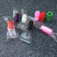 ego wraps großhandel-Einzeln verpackte Plastiktropfspitzen Wegwerfbunte Silikonprüfkappen Gummi-Kurzschluss-Ego Test-Spitzen Prüfvorrichtung Kappen-Tropfspitzen für ecig