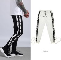 Wholesale men clothes usa - USA Men Sports Joggers Pants Casual Bandage Design Stylish Justin Biber Hip Hop Clothing Trousers