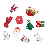 tiras de borracha magnética venda por atacado-Ímãs de Geladeira de natal Etiqueta Dos Desenhos Animados Anime Etiqueta 3D Geladeira Decoração Paster Casa Decorações Etiqueta Magnética 10 Unidades / pacote