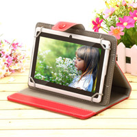 "Wholesale Pink Tablet Covers - US Stock! 7"" inch Tablet Case PU Leather Stand Cover Cases Folding Folio for 7 inch Tablet PC Purple Black Pink Red White"