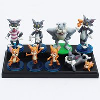 Wholesale Tom Jerry Toy Set - Tom and Jerry Figure toy Dolls Cute Cartoon Action Figures Toy Dolls Set Of 9 (1set=9pcs)