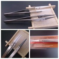 Wholesale Ecig Stainless - Insulation Ceramic tweezer Wrapping Coiler Heating Wire Wick Tool antistatic Stainless Steel nipper For DIY Clapton Ni200 Titanium ecig